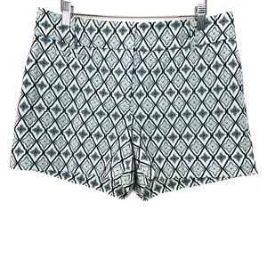 NWT Loft Blue and White Diamond Embroidered Shorts